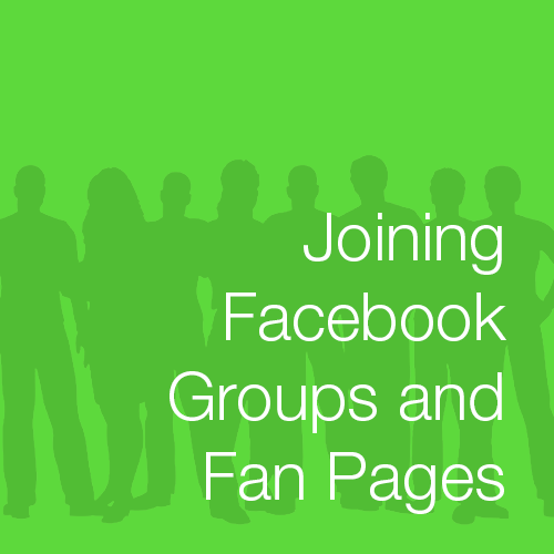 Joining Facebook Groups and Fan Pages